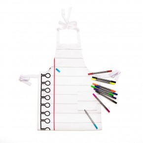 doodle customisable cotton kids apron