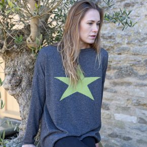 Star-jumper-charcoal-lime